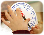 Hands on clock